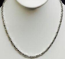 f0a352aa0034 14k Oro Blanco Sólido Collar Cadena Ancla de enlace Mariner 3.1 mm 37  gramos 30