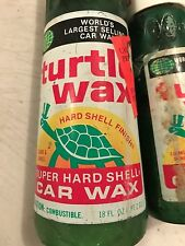 VINTAGE (1) Turtle Wax Super High Gloss Car Wash 18 0z & 12 Oz