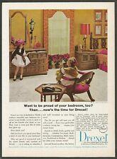 DREXEL furniture - 1965 Vintage Print Ad