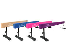 CANNONS UK 8ft Solid Gymnastics Balance Gym Beam 'WITH ADJUSTABLE HEIGHT LEGS'