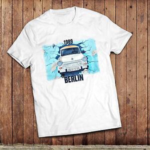 Berlin wall T-Shirt, 1989 fall of the wall, Trabant classic East German car shir