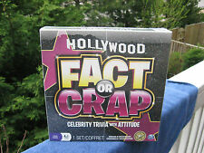 Hollywood Fact or Crap Celebrity Trivia with Attitude Game New & Factory Sealed!