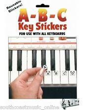 HAL LEONARD ABC PIANO & KEYBOARD STICKERS - TUITIONAL LEARN TO PLAY STICKERS