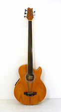 Fretless 5 String Electric Cutaway Acoustic Bass  Light-Brown, W/4 Band  EQ,