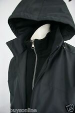 Weatherproof Jacket  Black  M  Water Resistant  Cold Protection  Detachable Hood
