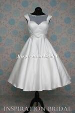 UK 1386 short Tea Length knee wedding dress new sizes 8 10 12 14 16 18 20 22 24