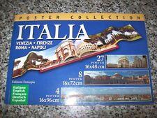 POSTER COLLECTION ITALIA:VENEZIA/FIRENZE/ROMA/NAPOLI-ENTROPIA-ITA/ENG/FRA/DEU/ES