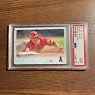 MIKE TROUT 2015 Topps Snow Camo SP /99 PSA 9 Angels