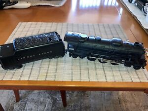 Vintage Lionel 2037  2-6-4 Steam Engine with 6466W whistle Tender Green 4