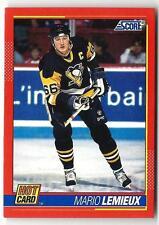 1991-92 Score Hot Card  MARIO LEMIEUX (ex-mt)