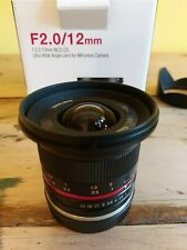 Samyang 12mm f/2.0 CS NCS Lens for Sony E-Mount APS-C Cameras