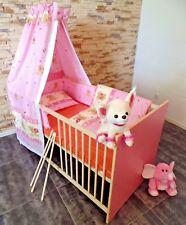 Lit à barreaux set complet bébé Enfant 5 couleurs convertible 70x140 rose blanc