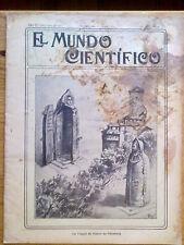 ANTIGUA REVISTA AÑO 1904 MUNDO CIENTIFICO,SORPRENDENTES NOTICIAS,PUBLICIDAD.211