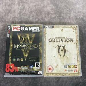 The Elder Scrolls III Morrowind Game Of The Year + IV Oblivion PC Game Bundle