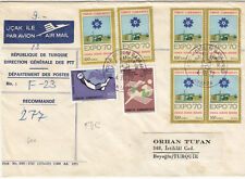 TURKEY (w0016 1972  reg.let. express st. air mail to ITALY
