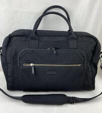 Vera Bradley 22526-081 Iconic Weekender Travel Bag Microfiber Classic Black NWT