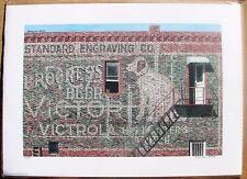 "DANA FORRESTER 1988 Watercolor Print ""Victor Victrola"" Signed & Numbered 94/500"