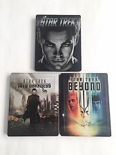 Star Trek Three Movie Collection Blu-ray Steelbook [UK] Zavvi Exclusive! MINT!