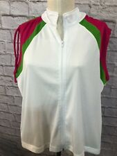 Carolina Colours Plus Size 22/24 Women's Multi Color Sleeveless Top Vest