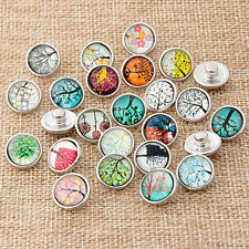 10pcs Randomly mix 3D 12mm snaps Chunk Charm Button for Noosa leather Bracelets