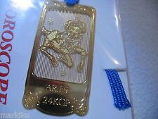 Horoscope Aries Ram Zodiac 24K Gold plated metal Bookmark book mark Made iJAPAN