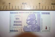 %  10.000.000.000 DOLARES DE ZIMBABWE, 2008 PLANCHA  VER FOTOS