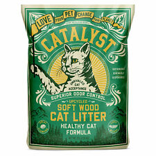 Catalyst Upcycled Soft Wood Cat Litter Odor Control Healthy Cat Formula, 20 Lbs