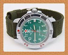 "Vostok  "" KOMANDIRSKIE"" russian military mechanical watch # 431307 new*"