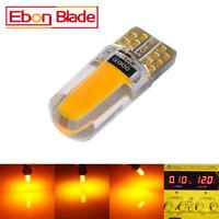 2 X T10 194 168 W5W COB 18SMD Silica Canbus Car LED Light Bulbs Amber Orange 12V
