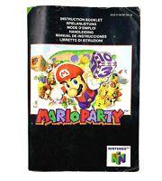 Notice jeu N64 Mario Party 1 Nintendo 64 Livret Instruction Manuel PAL