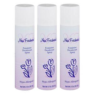 Pack of 3 New Freshness 2oz Feminine Deodorant Spray