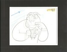 Dexters LAB Cartoon Production Cel Drawing Cartoon Network COA Seal hr