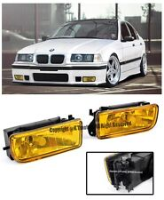 For 92-98 BMW E36 3-Series M3 Style Front Bumper Crystal Yellow Fog Light Lamps
