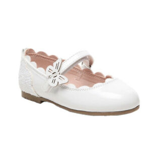 NWT Olive and Edie Baby Toddler Girls White Dressy Dress Shoes Size 10 NIB