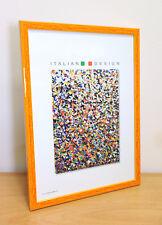 Nero e Arancione Cornice foto con effetto con AVORIO Mount-dimensioni a scelta