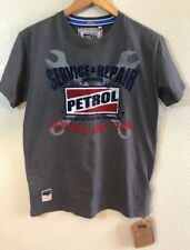 Petrol Industries Mens Muscle Grey Vintage Style Cotton T-Shirt Size L NWT