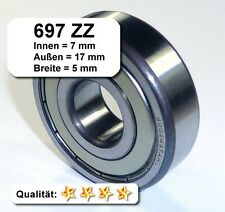 Radiales Rillen-Kugellager 697ZZ (=619/7-2Z) - 7 x 17 x 5 mm