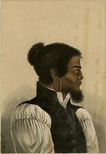 Antique Print-PORTRAIT-CADU-EARRING-OCEANIA-CHAMISIO-Anonymous-ca. 1840