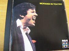 GIANNI MORANDI MORANDI IN TEATRO CD RCA