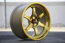 18x9.5 AodHan AH08 5x100 +30 Gold Machined Face Wheels (Set of 4)