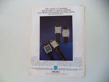 advertising Pubblicità 1979 OROLOGI SEIKO QUARTZ LE CONNAISSEUR