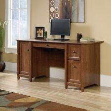 Sauder Edge Water Computer Desk in Auburn Cherry finish, 419395 New