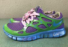 Nike Free Run + 2 DB Doernbecher Violet Green Blue Women's Sz 6.5 Running Shoes