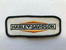 NOS Vintage 60-70's Harley Davidson White Patch Motorcycle HOG PanHead Shovel