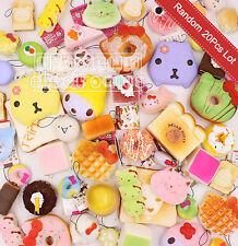 Random 20Pcs Squishies Jumbo Medium Mini Panda Peach Hello Kitty Cake Donut Kit