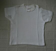 Vintage Ladybird Aircell T-Shirt -Age1-2 - White- Button opening -New -Defects