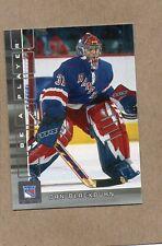 dan blackburn new york rangers rc card 2001/02 be a player 305