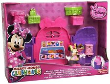 Disney Mickey Mouse Clubhouse Minnie's Sweet Shop New & Boxed-Figure+Cart+Sundae