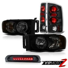 02-05 Dodge Ram 1500 2500 4.7L Headlights Roof Brake Lamp Raven Black Taillamps