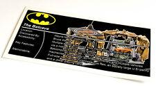 Lego Batman UCS Sticker for Batcave 76052